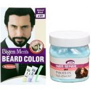 Pink Root Hair Spa Cream With Bigen Men's Beard Color B101 Natural Black