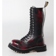 Schuhe STEEL - 15 Loch Winy (135/136 Red Black-Burgund )