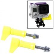Maxy Set 2pz Vite Con Bullone A Pomello Hrk213 Yellow /per Gopro Hd Hero - Nylox - Action Cam