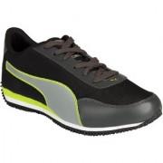 Puma Velocity Tetron Black & Green Men's Running Shoes