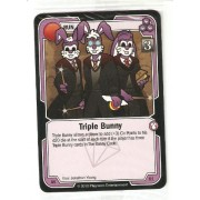 Killer Bunnies Promo Card: Odyssey Promo Cards: Triple Bunny Violet #Av61 (Purple)