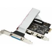 Card PCI-E x1 Axagon PCEA-SP adaptor la 2x Serial DB9 male + 1x Parallel DB25 female