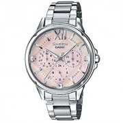 Casio Sheen Analog Mother Of Pearl Dial Womens Watch-SHE-3056D-4AUDR (SH198)
