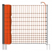 VOSS.farming farmNET 50 m chicken fence, poultry ffence, netting, 112 cm, 16 posts, 2 spikes