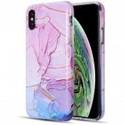 Funda Case para Iphone Xs Max Tipo Marmol - Magenta