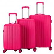 Tranporto-One Kofferset Roze Inhoud 95, 60 en 30 Liter