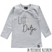Babystyling Lief dotje longsleeve shirt 80 Grijs/Zwart