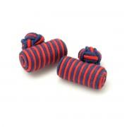 manșetă butoni (model 17) 7255 în roșu-albastru culoare