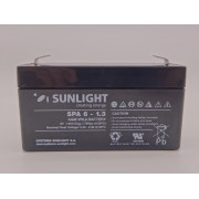 Sunlight 6V 1.3Ah 97mm x 24mm x 52mm baterie AGM VRLA SPA 6-1.3