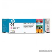 HP 91 Pigment Light Magenta Ink Cartridge, 775ml (C9471A)