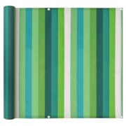 vidaXL Prelată pentru balcon, material Oxford, 75x600 cm, dungi verzi