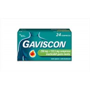 Reckitt benckiser h.(it.) spa Gaviscon 250 Mg 24 Compresse Gusto Menta