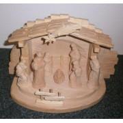 Dreveny rucne vyrezavany betlem - varianta 14b1