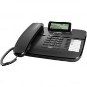 Analogni telefon sa žicom DA810A Gigaset automatska sekretarica, funkcija slobodnog govora, mat crna