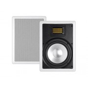 Monoprice Mono 2-Way In-Ceiling Speaker 8 Inch (Single) with Ribbon Tweeter and Paintable Magnetic Grille Amber Series