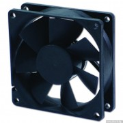 FAN, EVERCOOL 80mm, EC8025LL12BA, 2-Ball Bearing, 1400rpm (80x80x25)