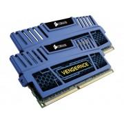 Corsair PC-werkgeheugen kit Vengeance Cerulean Blue CMZ8GX3M2A1600C9B 8 GB 2 x 4 GB DDR3-RAM 1600 MHz CL9 9-9-24