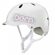 Bern Helma Bern Bandita gloss white confetti logo