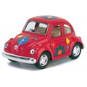 """Kinsmart Funny Series 4"""" 1967 Volkswagen Classical Beetle w/ printing Model Car with Doors Openable and Pull Back Action from Flying Toyszer"""