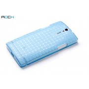 The Rock Magic Cube Frosted Case for Sony Xperia S LT26i - Sony Soft Cover (Light Blue)