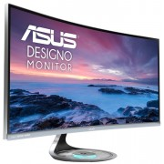 "ASUS Designo Curved MX34VQ 34"" UWQHD Monitor + Speaker + Qi wireless charger on base"