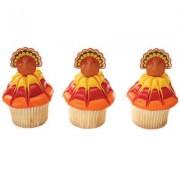 Thanksgiving Turkey Cupcake Picks - 24 pc