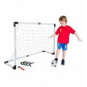 Set Joc de Fotbal pentru Copii cu Minge Pompa si Poarta cu Plasa pentru Antrenament