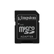 Cartão de Memória Kingston 16GB MicroSDHC com Adaptador SD (classe10)