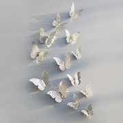 3D Stickers Butterflies Hollow DIY Home Decor Rooms Party Wedding Sticker 12Pcs/Set