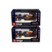BBURAGO 1:43 RACE - RED BULL RACING TAG HEUER RB12 - MAX VERSTAPPEN #33 & DANIEL RICCIARDO #3 2PCS DIECAST TOY CAR 18-38025