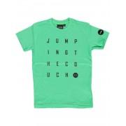 Jumping The Couch! Jongens Shirt Korte Mouw - Maat 104 - Groen - Katoen