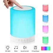 Érintésérzékeny Bluetooth hangszóró Hangulatfény, akkumulátorral, Mp3, TF/micro SD kártya,3,5 jack, telefon kihangosítás - MK-601BT
