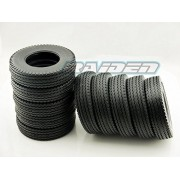 All Terrain Front/Rear Narrow Rubber Tire HD for TAMIYA 1/14 Tractor Truck 10pcs