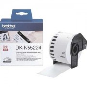Лента Brother DK-N55224 Roll White Continuous Length Non-Adhesive Paper Tape 54mmx30.48M (Black on White) - DKN55224