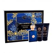 Versace Pour Homme Dylan Blue confezione regalo Eau de Toilette 50 ml + doccia gel 50 ml + balsamo dopobarba 50 ml da uomo