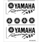 Adesivi per auto moto scooter Yahama Neri racing 6 pezzi yamaha