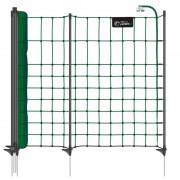 VOSS.PET petNET+ 10 m Hundezaun, Welpenzaun, Kaninchenzaun, 65 cm, 10 Premium-Pfähle, 1 Spitze, grün