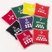 Kids Set of 10 Numbered Bean Bags