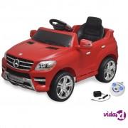 vidaXL Električni autić Mercedes Benz ML350 crni 6V, s daljinskim upravljačem