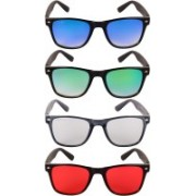 NuVew Wayfarer Sunglasses(Blue, Violet, Green, Grey, Red)
