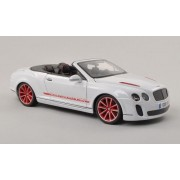Bentley Continental Supersports Convertible ISR, white , Model Car, Ready-made, Bburago 1:18