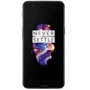 "Telefon Mobil OnePlus 5 A5000, Procesor Octa-Core 2.45GHz / 1.9GHz, Optic AMOLED Touchscreen Capacitiv 5.5"", 6GB RAM, 64GB Flash, 16 + 16 MP, Wi-Fi, 4G, Dual-Sim, Android (Gri inchis) + Cartela SIM Orange PrePay, 6 euro credit, 4 GB internet 4G, 2,000 min"