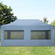 tendapro.it Gazebo Pieghevole ALU 3x6m PVC-beschichtetes Poliestere grigio scuro Padiglione Richiudibile Automatico