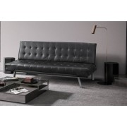 Three Seater Faux Leather Sofa Bed - 2 Colours!