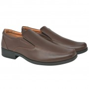 vidaXL Sapatos mocassim homem tamanho 43 couro PU castanho