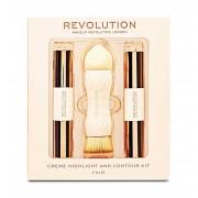 Kit Pentru Contur Si Iluminare Makeup Revolution Creme Highlight And Contour Fair