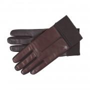 Roeckl Touch Leder-Handschuhe mit Strickbund Dunkelbraun 8.5
