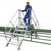 Günzburger Steigtechnik Günzburger Überstieg 45° inkl. einen Handlauf, Stufenbreite 800mm, 2x8 Stufen