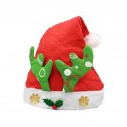 Navidad Decoracion Tela No Tejida Santa Sombrero Deer Horn Patron Niños Vestir Sombrero De Navidad, Patrón Aleatorio Entrega
