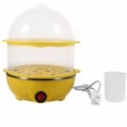 SKYFISH Double layer lovers egg boiler full stainless steel steaming bowl for 14 Eggs Multi-Function 2 Layer Electric Food and Egg Cooker Boilers & Steamer Egg Cooker(14 Eggs)
